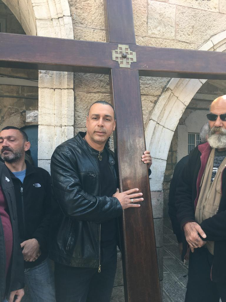 Our Christian tour guide during Easter in Jerusalem