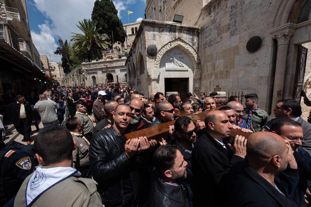 Good Friday Procession in Jerusalem