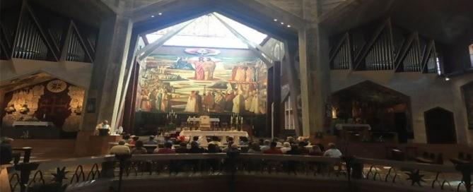 The interior of the Annunciation Church
