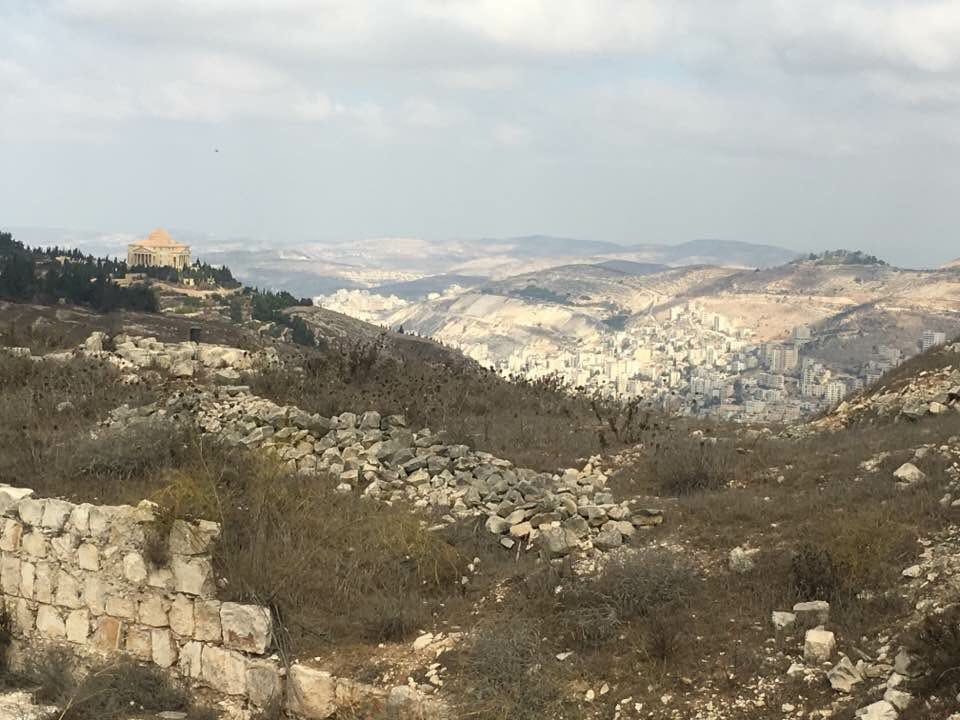 Panoramic view of mount Gerizim