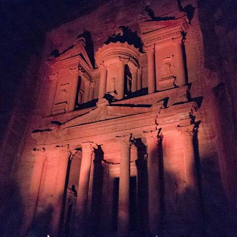 A Night Light Show in Petra
