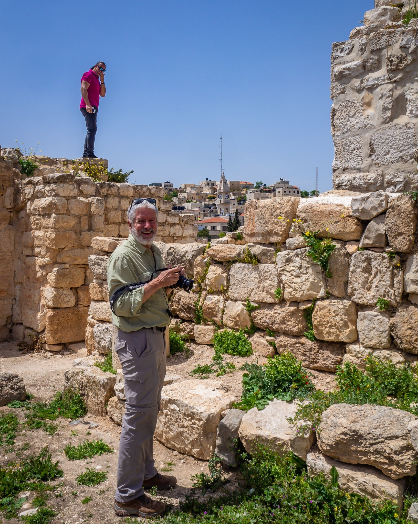 The ruins of the Church of Saint George, Taybeh